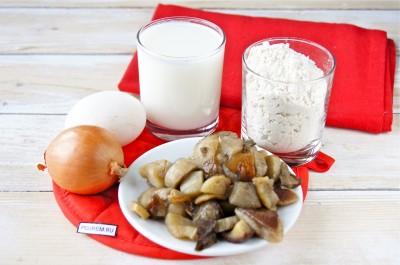 Рецепт: блины с грибной начинкой