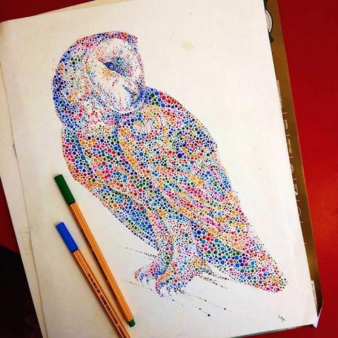 Точечные рисунки животных