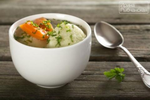 Суп с галушками для воскресн…