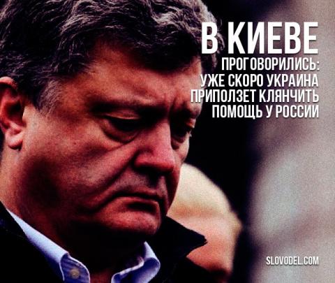 В Киеве проговорились: уже скоро Украина приползет клянчить помощь у России