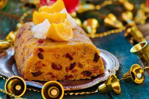 Новогодние рецепты: Фруктовый пудинг