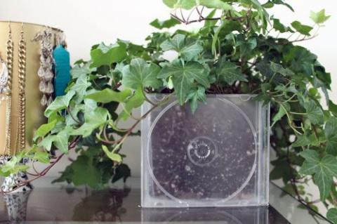 Оригинальные поделки из компакт-дисков