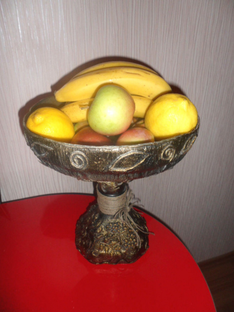 Ваза для фруктов. Мастер-класс.