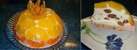 Творожной тортс фруктами. Л…