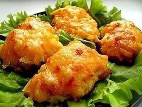Курица, запеченная с ананаса…