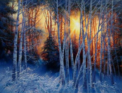 Зимний лес - это сказочный с…