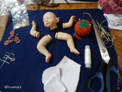 Создание малышей из полимерной глины 3 (продолжение). Шьём тельце. Мастер класс