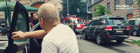 В центре Киева взорвали джип…