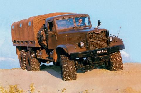 Тяжелый грузовик-вездеход КрАЗ-255Б