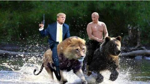 Решили Путин и Трамп в знак огромного доверия друг к другу секретаршами поменяться (Анекдот) :)