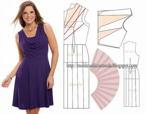 Простые выкройки летних платьев 27