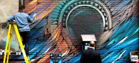 Анаморфное граффити от TSF Crew - Фото