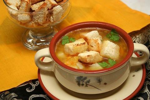 Гороховый суп с копченостями…