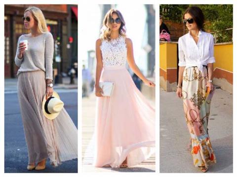 Готовимся к лету: кому идут и с чем носить длинную юбку. 18 свежих образов