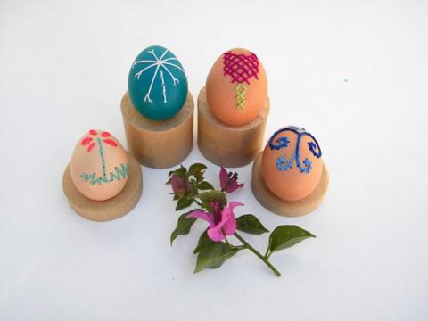 СТЕЖОК, ЕЩЁ СТЕЖОК. Очаровательная вышивка на яйцах