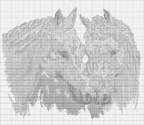 картинку Белые лошади
