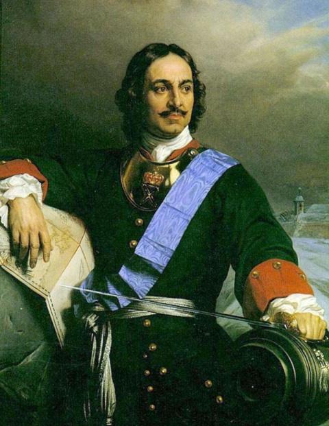 Основатель Северной Пальмиры-Санкт-Петербу́рга.