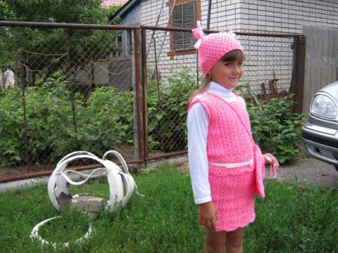 """Комплект для девочки 4-6лет """"Розовый бутон"""""""