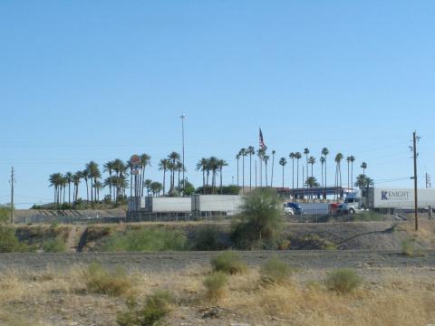 При въезде в Калифорнию