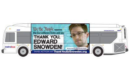 Американские автобусы украсит лицо Эдварда Сноудена
