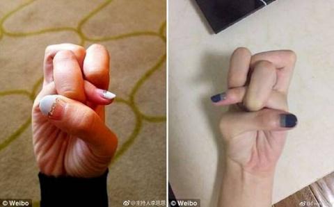 Новый тренд в китайских соцсетях — «узел пальцами» (6 фото)