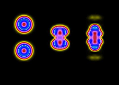 Физики смоделировали образование нуклонных кластеров при слиянии тяжелых ионов