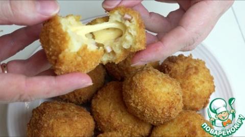 Картофельные шарики с ветчин…