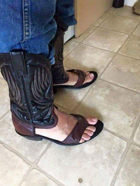 Ковбойские сапоги-сандали — …