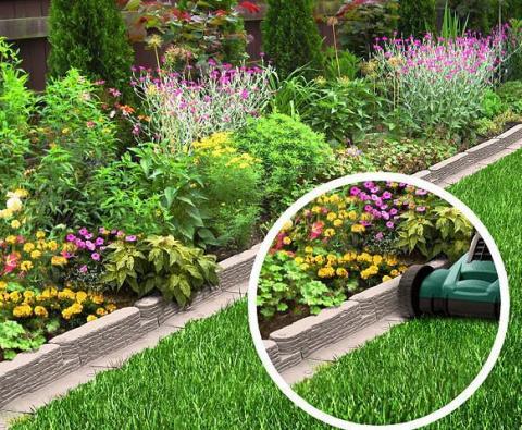Бордюры — стильная оправа для садовых «самоцветов». Идеи и мастер-класс