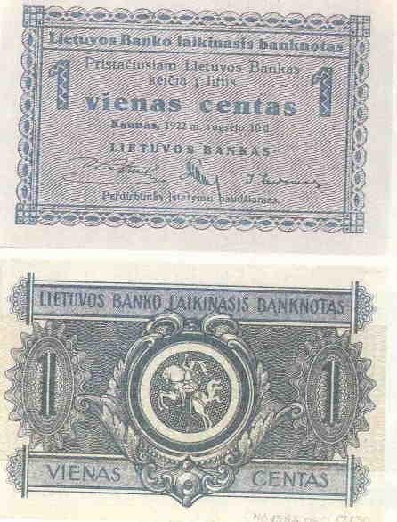 Банкноты Литвы 1922-1944 годов