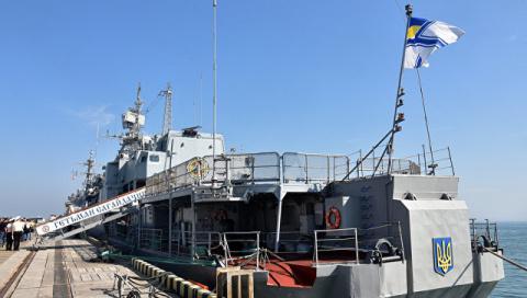 Флагманский корабль ВМС Укра…