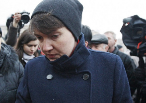 Надежда Савченко попала в аварию