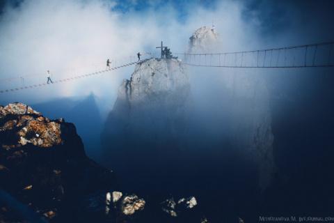 Подвесные мосты на Ай-Петри в Крыму