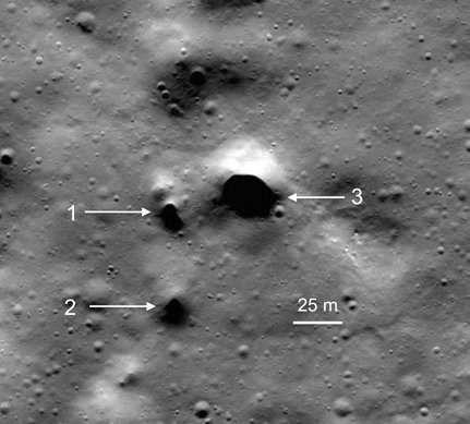 Близ северного полюса Луны о…