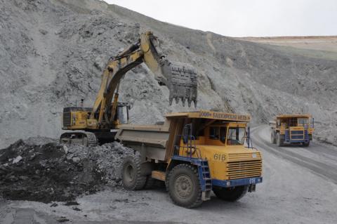 На медном руднике в Башкирии…