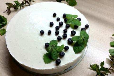 Прекрасный легкий творожный торт на скорую руку