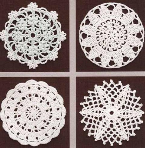 Схемы круглых мотивов в копилочку