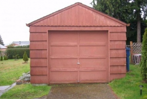 Девушка перестроила гараж в …