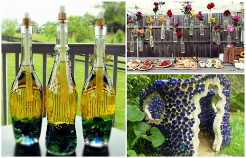 12 красивых и полезных вещей из стеклянных бутылок, которыми можно украсить свой дом и дачу