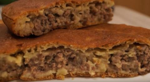 """Пирог с мясом """"Легче не быва…"""