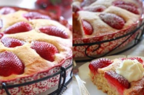 Итальянский пирог с клубнико…