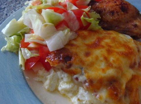 Ароматный картофель с чесноком и имберём в медовой заливке