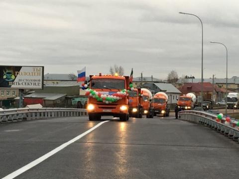 В Татарстане открыто движение по новому мосту через реку Актай