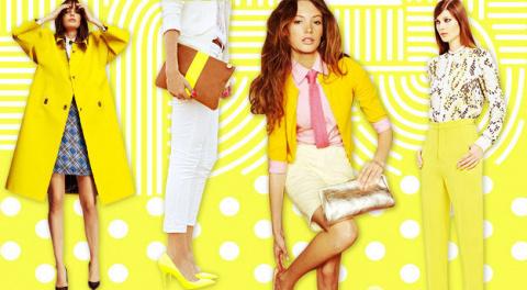 Как и с чем носить желтый