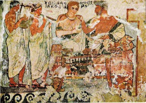 Особенности взаимоотношения (социального и гражданского) наших возможные предков до Христианства - Принципы самоорганизации общества у этруссков. Особые (для античности) привилегии женщин.