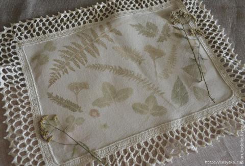 САМОДЕЛКИ. Эко-декор ткани из растений и цветов своими руками!