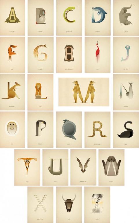 Алфавит из животных