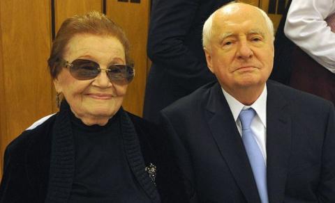 Марк Захаров и Нина Лапшинов…
