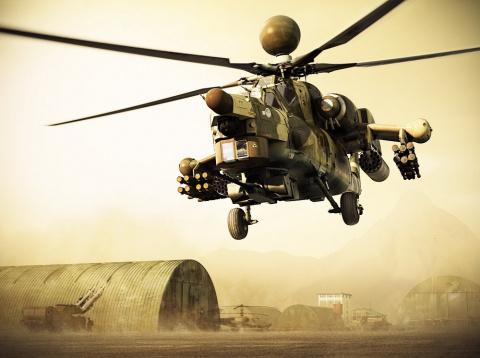 Иракские военные показали уничтожение колонны ИГ российскими вертолетами
