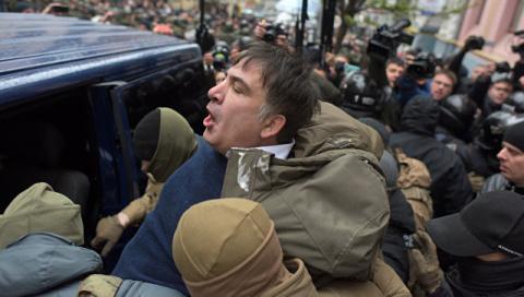 """Штурм """"Киева"""": Саакашвили обвинили в захвате комитета Верховной рады"""